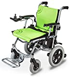 DONGBALA Lightweight Wheelchair, Electric Wheelchair Open/Fold in 1 Second Lightest Most Compact Power Chair Drive with Electric Power Or Manual Wheelchair Up To 12 Miles Range for Disabled Elderly