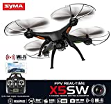 Syma X5SW Explorers2 2.4G 4CH 6-Axis Gyro RC Headless Quadcopter with Wifi Camera (FPV) Black