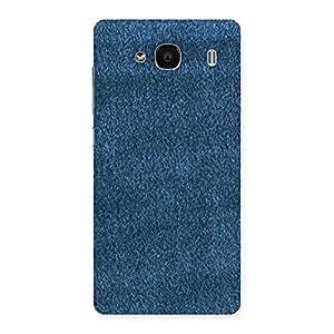 Stylish Royal Blue Cloth Print Back Case Cover for Redmi 2 Prime
