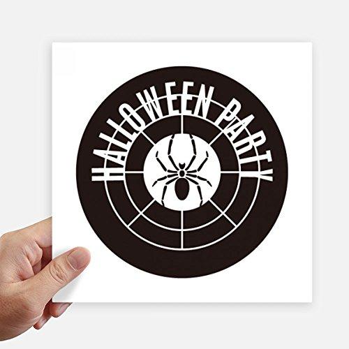 DIYthinker Round Halloween-Spinnen-Muster-Quadrat-Aufkleber 20Cm Wand Koffer Laptop Motobike Aufkleber 4Pcs 20cm x 20cm Mehrfarbig