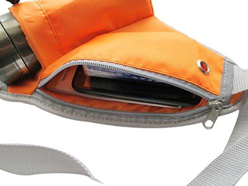 BXT Outdoors kleine Universal-Leichtgewicht Polyester Hüfttasche mit Flaschenhalter Orange