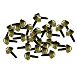 Baoblaze 30 Metall DIY Nailhead Nieten Ziernieten Bügelnieten Punk-Ausrüstung, Gürtel, Hundehalsbänder - Bronze