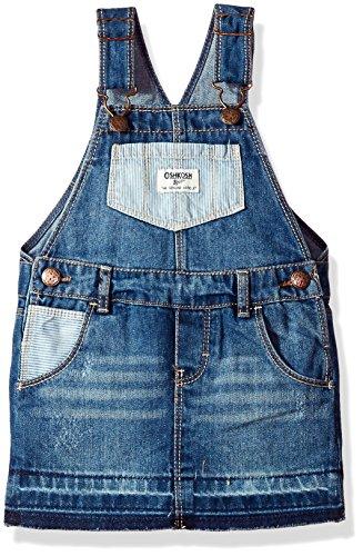 Oshkosh B'gosh Kinder Baby Mädchen Jeans Denim Overall Latzrock Rock Pocket Jumper (104) Oshkosh Overall