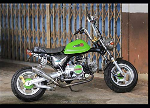 Honda Monkey Z50 trail minibike: 120 pages with 20 lines you can use as a journal or a notebook...