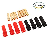 4 Pairs XT150 Connector Banana Male Female Plug with Socket 120A Large Current Gold Plated 6MM Banana Plug Bullet Connectors for RC Drone Quad Spare Part from Makerstack