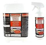 CleanPrince Verdeckreiniger 2,5 Liter Cabriolet-Verdeck-Reiniger Cabrioverdeckreiniger Cabrio-Verdeckreiniger Dachreiniger Stoffdach Autodach Baumwoll und Polyestermischungen Acrylfasern