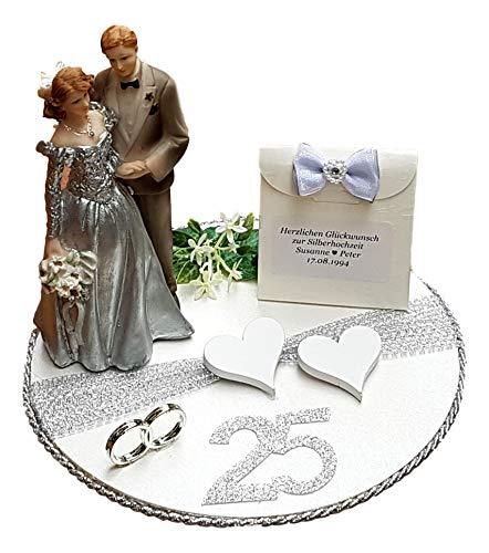Der-kleine-Dekoladen Geldgeschenk Geschenk Silberne Hochzeit Silberhochzeit