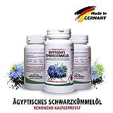 Bestes Schwarzkümmelöl Kapseln • 1500mg pro Tagesdosis hochdosiert • in Deutschland hergestellt • Kaltgepresst • Ägyptisch • Naturbelassen • Mit Vitamin E 15mg • Top Qualität