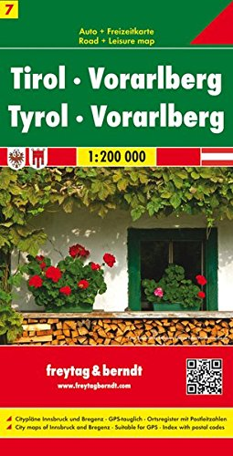 Carte routière : Tirol Vorarlberg