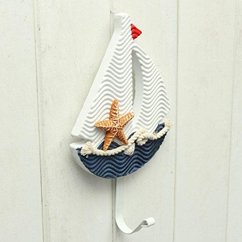 en Stil Pothook Nautische Hut Kleidung Haus Wand Haken Hängende Dekoration-#3 Kleiderbügel (Nautische Hängende Dekorationen)