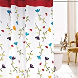 KING DO WAY Duschvorhang Waterproof Badezimmer Mehltau Orchidee 220cm breit*180cm hoch