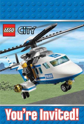 Amscan Carton d'invitation Lego