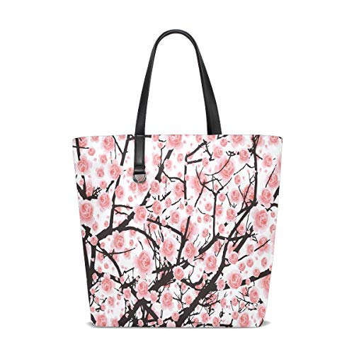 Malerei Pink Cherry Blossom Tote Bag Handtasche Handtasche für Frauen Mädchen (Malerei Cherry Blossom)