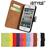 CATOE Luxury Genuine Leather Wallet Folio Stand Flip Case with Card Slot for Apple iPhone 4/4S,iPhone 5/5S, iPhone 6/6 Plus,iPhone 5C High Quality Sport Gym (Black, Apple iPhone 5/5s)