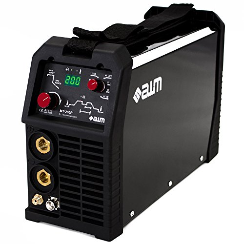 AWM Schweißgerät 200A IGBT Inverter MMA WIG TIG, Pulse, Hot-Start, HF - LIFT Zündung, 2 Takt/4 Takt, Anti-Stick, ARC Force, DC, Digital Anzeige, MT-200P