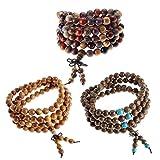 Best Jovivi Friend Wish Bracelets - Jovivi 108 Prayer Beads Mala Bracelets,Natural Wood Tibetan Review