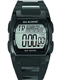 All Blacks - 680057 - Montre Homme - Quartz Digital - Cadran Noir - Bracelet Métal Noir