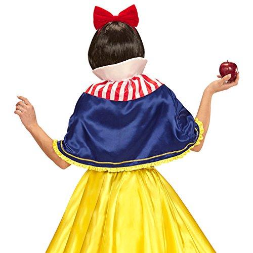 Amakando Märchen Cape zum Kostüm Prinzessin Damenkostüm Zubehör Schneewittchenkostüm Damen Märchenkostüm Snow White Königin Gewand Schneewittchen Umhang und Haarreif
