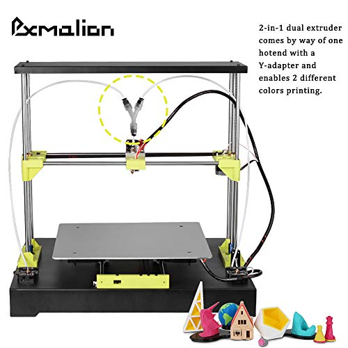 Pxmalion T320 3D Printer, Large Print Size 320x320x320mm, Heat Bed, 2-in-1 Dual Extruder, Auto Level, Easy Assembly, 40g PLA Filament Sample - 5