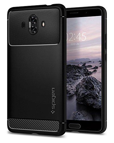 Spigen® [Rugged Armor] funda Huawei Mate 10 con Absorción de choque resistente y diseño de fibra de carbono para Huawei Mate 10 [Negro]