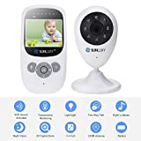 SUNLUXY 2.4 Inch Color LCD Wireless Digital Audio Video Baby Monitor Security Camera 2 Way Talk Night Vision with 2X Digital Zoom and Night Light Function White