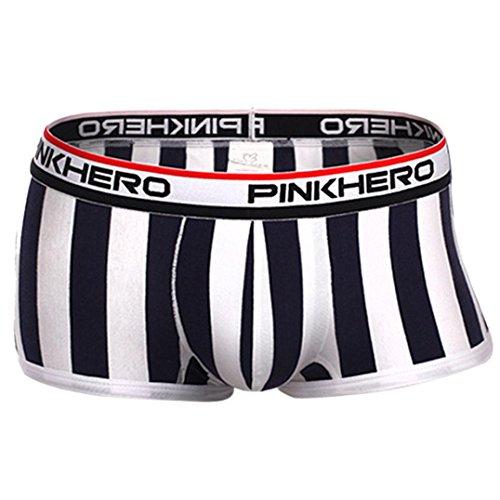 Tonsee® Sexy Sous-vêtements homme Boxer Boxer Slip culotte (M, noir)