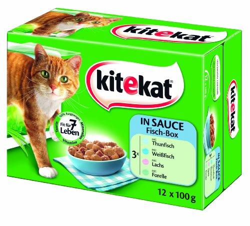 Kitekat Portionsbeutel 12er Multipack Fisch-Box in Sauce, 2er Pack (2 x 1.2 kg)