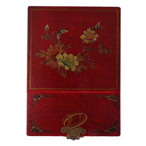 Sharplace Boîte à Bijoux Toilette Rangement Coffre Cosmétique Style Chinois Antique en Bois