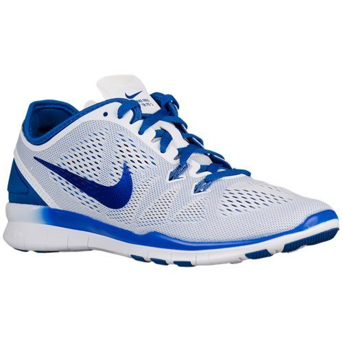 Nike Free 5.0 TR Fit 5 Women's Cross Training Shoes (10.5, WHITE/GAME ROYAL)