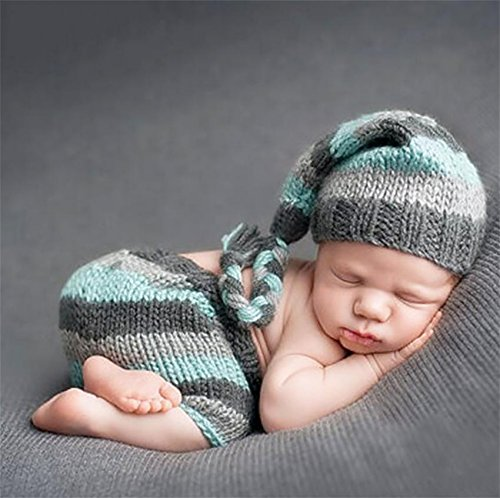 PEPEL Neugeborenes Baby Fotografie Requisiten handgefertigt gestrickte Unisex Baby Gap Outfit Baby Gap Outfit