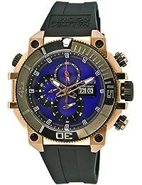 Nautec No Limit Herren-Armbanduhr XL Seabridge Chronograph Quarz Kautschuk SB-RBRGIPBK-BL