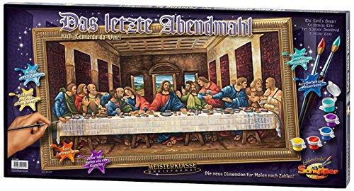 alen nach Zahlen - Das letzte Abendmahl, 40x80 cm (Jesus Malvorlagen)