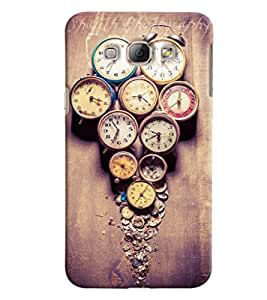 Blue Throat Watches Pattern Printed Designer Back Cover For Samsung Galaxy A8