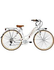 'Bicicleta Cicli Adriatica Golf de mujer, estructura de acero, rueda de 28, cambio Shimano de 6 velocidades, talla 45, 2 colores disponibles, Bianco