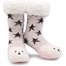 CityComfort Slipper Socks 3D Novedad Cute Animal Knitted Extra Warm Slippers Súper Soft Winter Wool