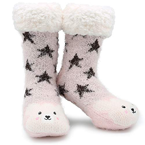 d33b82616 CityComfort Slipper Socks 3D Novedad Cute Animal Knitted Extra Warm Slippers  Súper Soft Winter Wool (