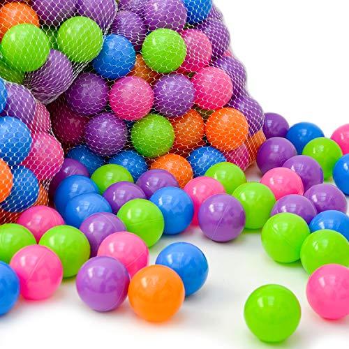 Littletom 100 palline di plastica colorata Ø 6 cm per piscina giocattolo bebè