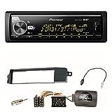 Pioneer MVH-X580DAB MP3 WMA Spotify Radio USB FLAC Einbauset für BMW E46