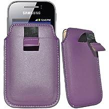 Maestro de accesorios funda de piel de imitación para Alcatel One Touch Pop C1 Violeta