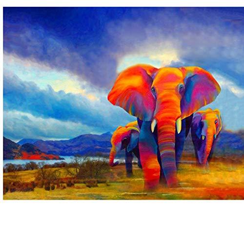 VVNASD Puzzles para Adultos 1000 Piezas Kits De Elefantes Coloridos De Bricolaje...