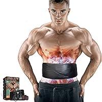 L-life Cinturones de masaje Cinturón de posicionamiento abdominal, EMS Estimulador muscular Liposucción Entrenador de fitness que adelgaza el músculo acondicionador abdominal cinturón de entrenamiento.