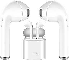 Bluetooth Kopfhörer Ture Mini Wireless Bluetooth Doppel-Ohrhörer Twins Ohrhörer Stereo Music Headset für Apple iPhone X 8 7 7 Plus 6 6s Samsung S7 S8,IOS und Android-weiß