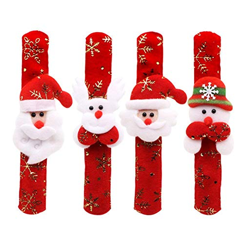 hts Armband Bequeme Non Woven Weihnachten Slap Armband Weihnachtsweihnachts Armband Pat Hand Kreis Party Favors Toys ()