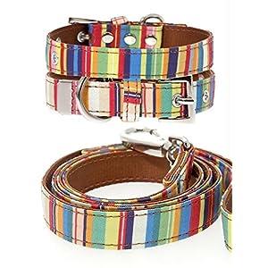 UrbanPup-Henley-Striped-Fabric-Collar-Lead-Set