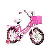 LBYMYB Bicicletas For Niños, Bicicletas For Niños Y Niñas Al Aire Libre, Carritos De Bebé con Scooters con Ruedas Auxiliares 12/14/1618 Pulgadas Bicicleta para niños (Color : Rosy, Size : 18Inch)