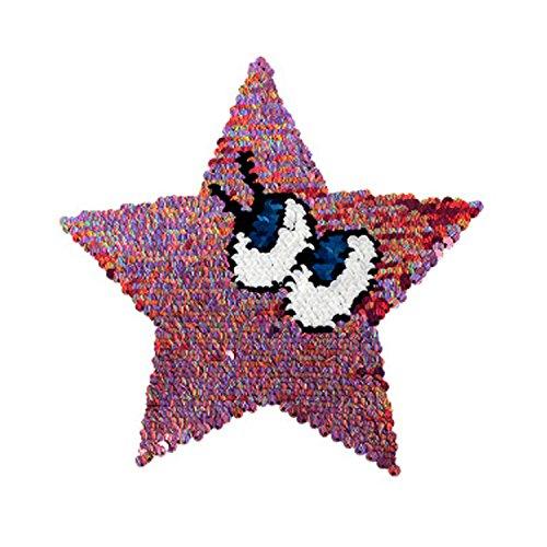 Reversible Lentejuelas Ropa Parche Estrella Patrón