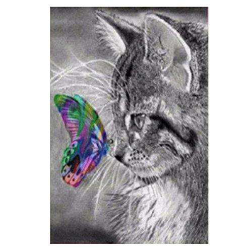Broadroot Papillon Cat DIY 5d Diamant Broderie Peinture Croix Craft Decor