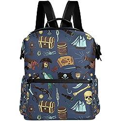 COOSUN Piratas Modelo coloreado escuela de la mochila del morral del recorrido Multi