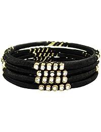 690c7c2298b0 Banithani hilo de seda dorado regalo de joyería envuelto pulseras de moda  para ella sz 2