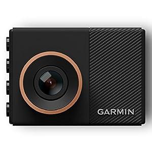 Garmin Dash Cam 55 – ultrakompaktes Design, 3,7 MP Kamera mit Schnappschussfunktion, Sprachsteuerung, Fahrspurassistent, Go!-Alarm und Überwachungsmodus beim Parken